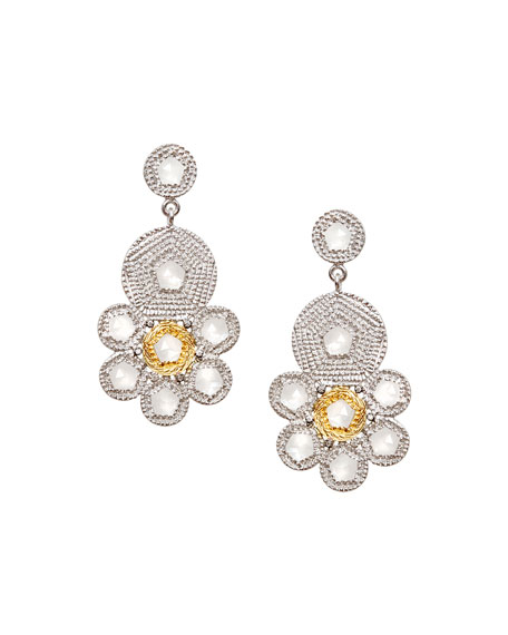 Opera Crystal & Diamond Flower Earrings