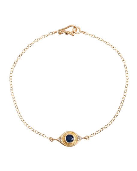 Jamie Wolf Evil Eye Bracelet with Sapphire &