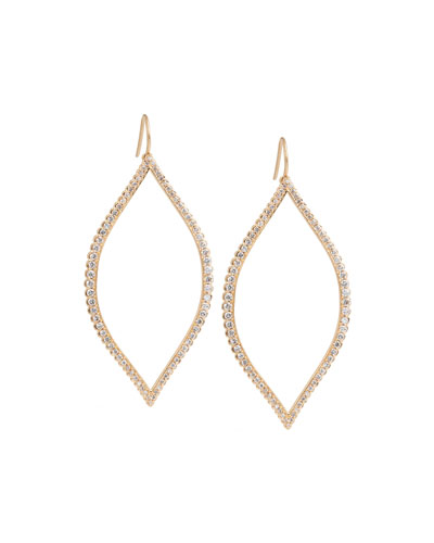 Marquise Leaf Diamond Drop Earrings