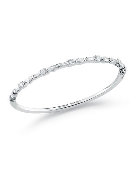 Mixed Cut Diamond Bangle Bracelet
