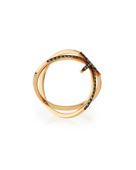 White Diamond Starburst Ring