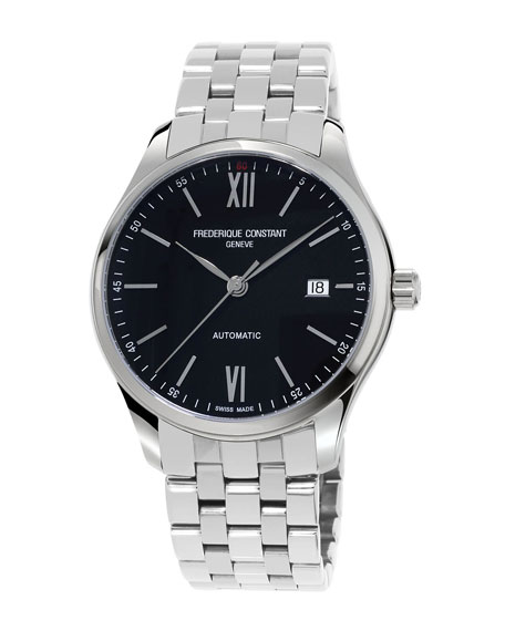 FREDERIQUE CONSTANT GENTS CLASSICS INDEX AUTOMATIC STAINLESS WATCH