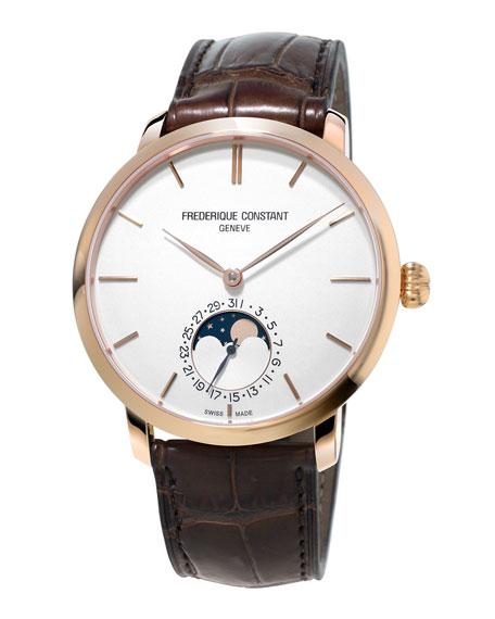 Gents Slimline Manufacture Moonphase Watch