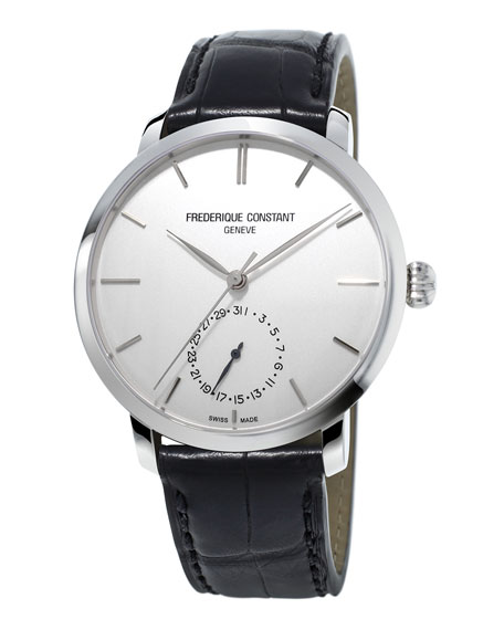 Gents Slimline Manufacture Stainless Watch