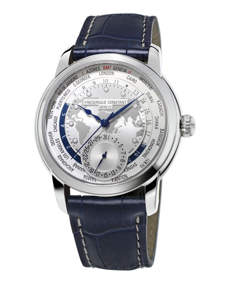 42mm Gents World Timer Manufacture Watch