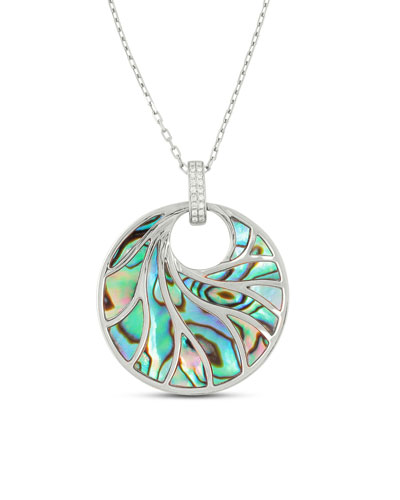Venus Abalone & Diamond Pendant Necklace