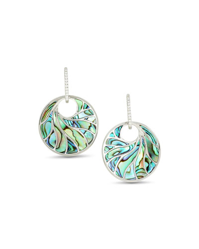 Venus Abalone & Diamond Earrings