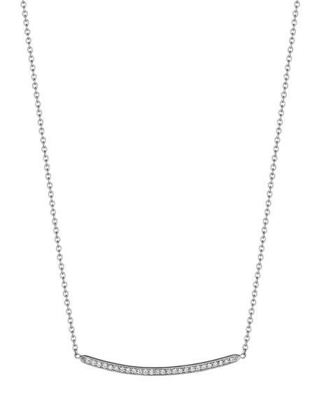 Penny Preville Curved Bar Diamond Pendant Necklace
