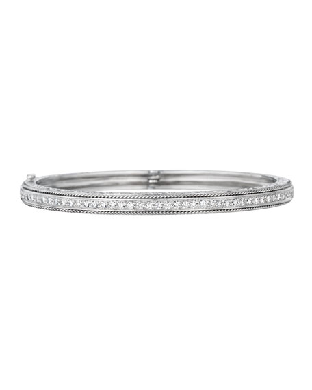 Classic Collection Diamond Bangle with Side Twists