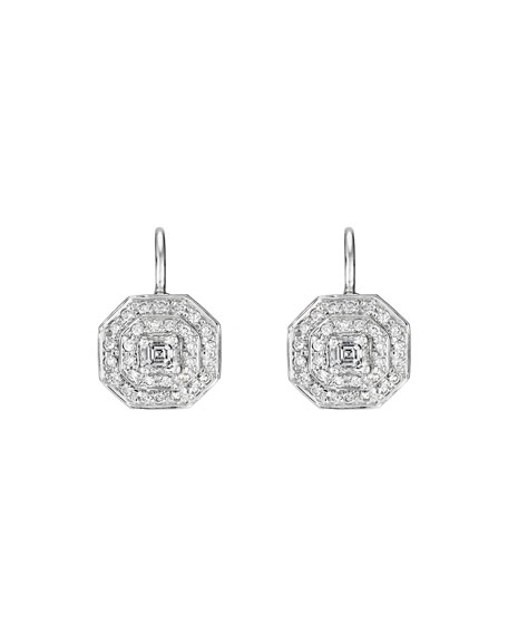 Deco Collection Diamond Octagon Earrings