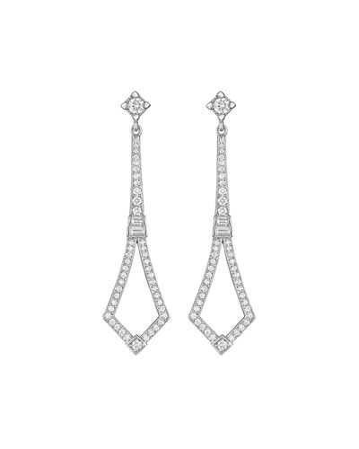 Deco Collection Long Diamond Earrings