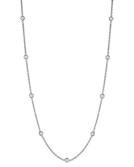 Diamond Eyeglass Chain Necklace, 18