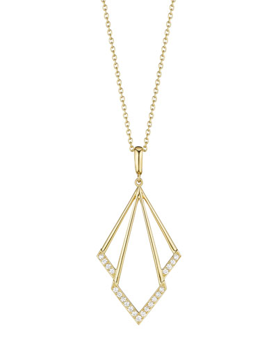 Geometric Diamond Pendant Necklace