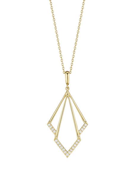 Geometric Diamond Pendant Necklace
