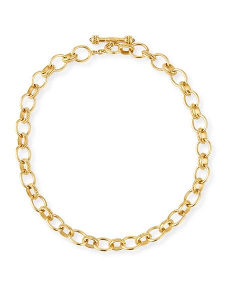 """Lampedusa 19k Gold Link Necklace, 17""""L"""