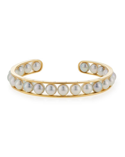 Kobe Akoya Pearl Bangle Bracelet