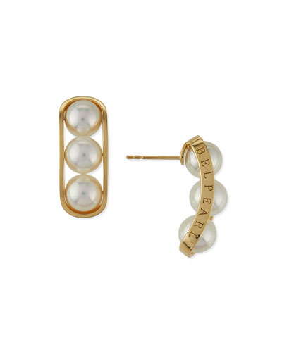 Kobe 18k Akoya Pearl Earrings