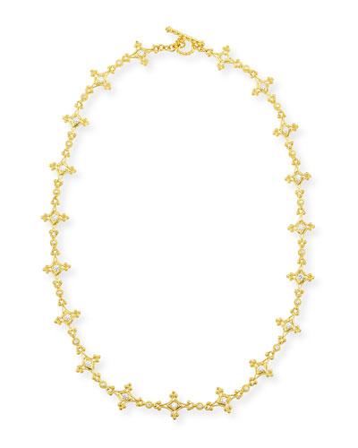 Aegean 18k Diamond Mix-Link Necklace, 17