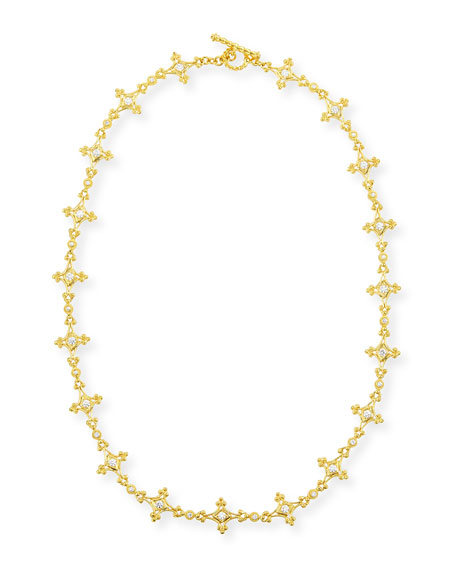 Eli Jewels Aegean 18k Diamond Mix-Link Necklace, 17