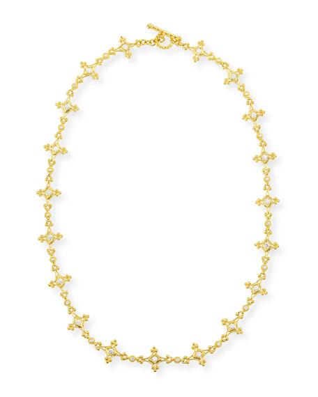 "Aegean 18k Diamond Mix-Link Necklace, 17""L"
