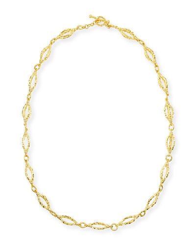 Aegean 18k Gold Sculpt-Chain Necklace