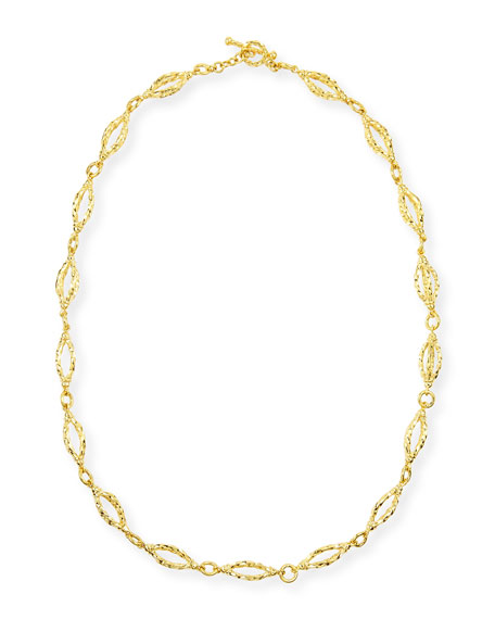 Aegean 18k Gold Sculpt-Chain Necklace