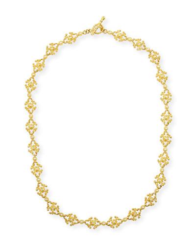 Aegean 18k Diamond Cross-Link Necklace, 17