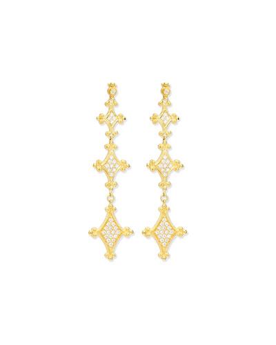 Aegean Collection 18k Diamond Drop Earrings