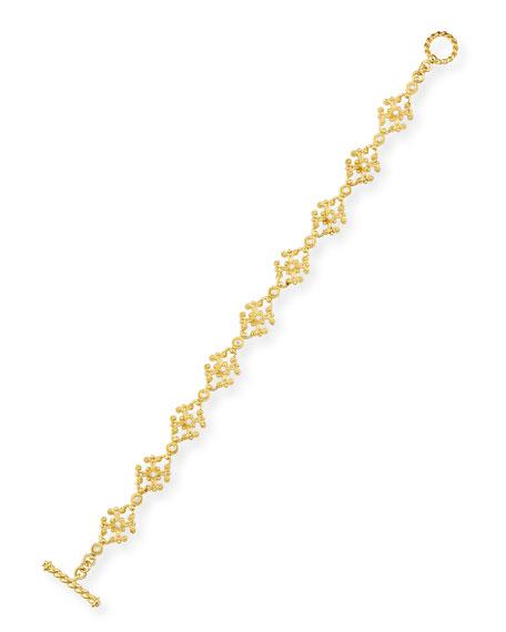 Eli Jewels Aegean 18k Diamond Cross-Link Bracelet