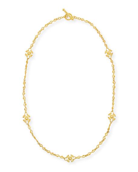 Aegean 18k Diamond Station Necklace