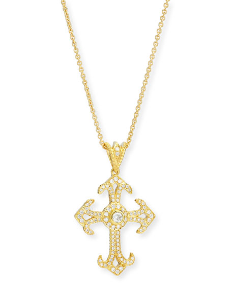 Aegean Collection Diamond Cross Pendant Necklace