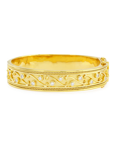 Etruscan Collection 18k Diamond Bangle, 2.2""