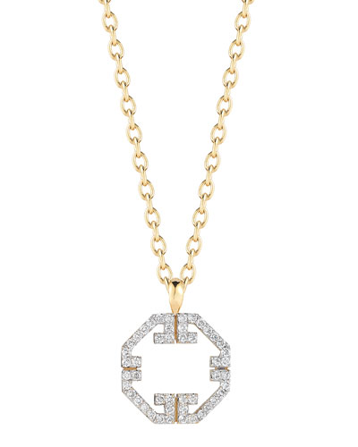 Metropolis Octagonal Diamond Pendant Necklace