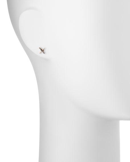 Vitality Black Diamond X Single Stud Earring