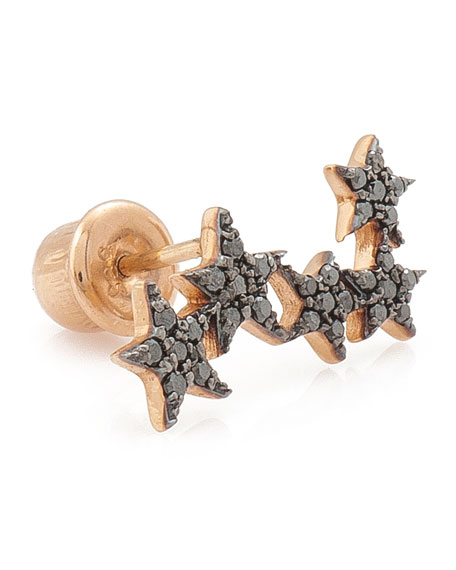 Wonder Woman 5-Star Black Diamond Ear Crawler