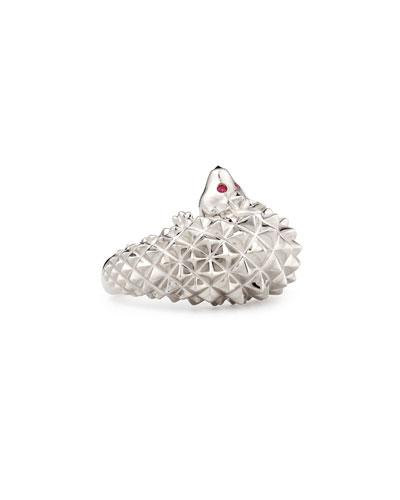 Hans the Hedgehog White Gold Diamond Ring