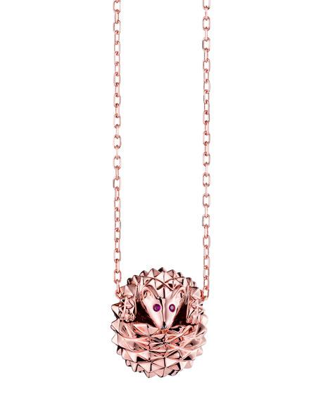 Hans the Hedgehog Rose Gold Pendant Necklace