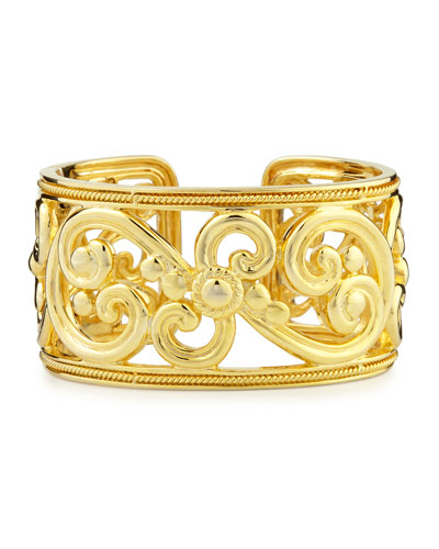 Harmony 18k Gold Hinged Cuff Bracelet