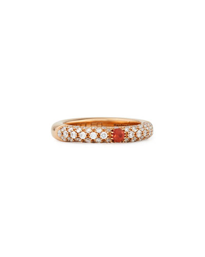 Pop Diamond and Orange Sapphire Band Ring