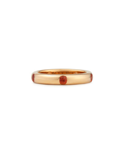 Pop Rose Gold and Orange Sapphire Band Ring