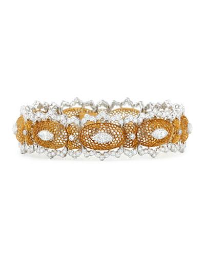 Tulle Filigree Diamond Bracelet
