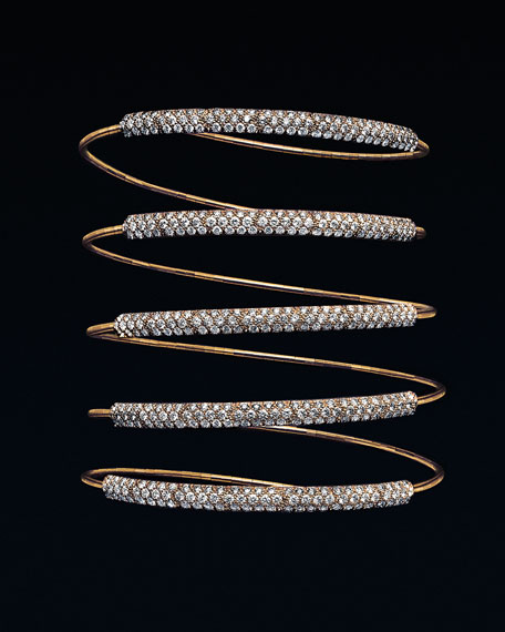 Five-Row Diamond Wrap Bracelet