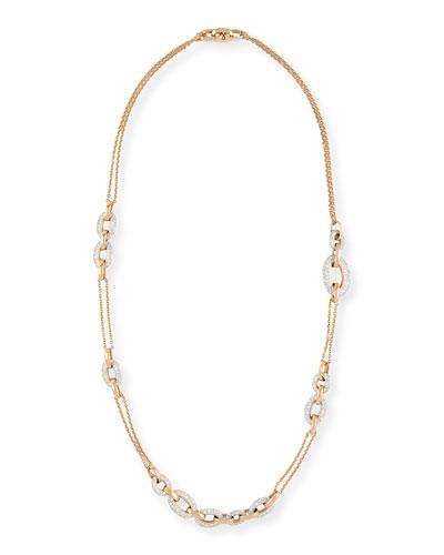 Tango 18k Rose Gold Diamond Chain Link Necklace