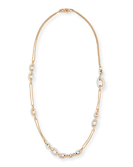 Tango 18k Rose Gold Diamond Chain Link Necklace