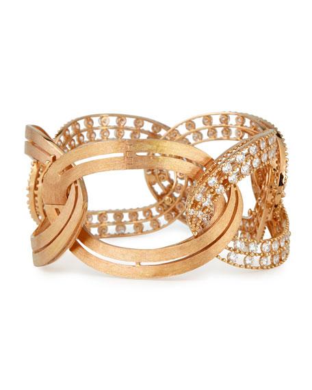 Staurino Fratelli 18k Rose Gold Diamond Bracelet