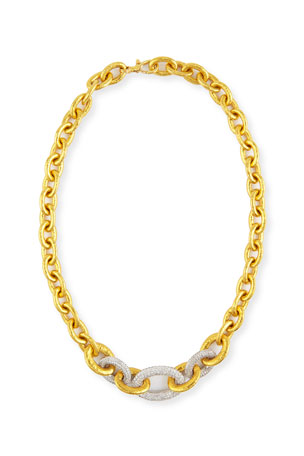 Gurhan 24k Tapered Galahad Necklace with Diamonds