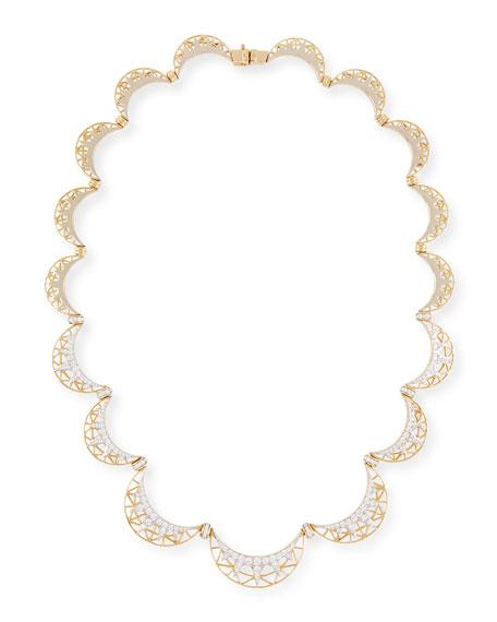 Liberte 18k Gold and Diamond Collar Necklace