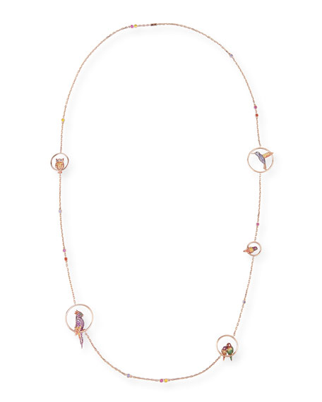Nuri the Cockatoo 18k Rose Gold Long Necklace