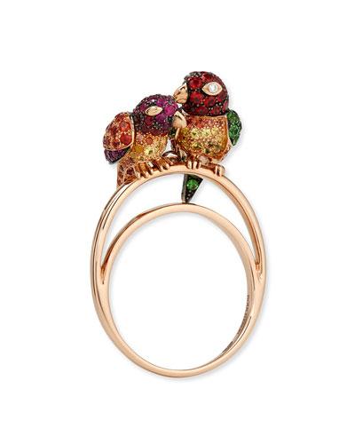 Nuri the Cockatoo 18k Rose Gold Ring