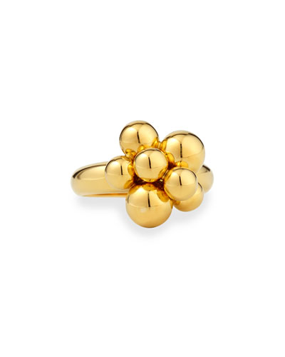 Mini Atomo 18k Gold Ring